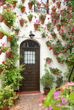 Spring and Easter Flowers Decoration of Old House, Spain, Europe