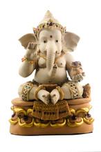 Hindu God Ganesh With Gemstone