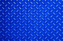 Blue Steel Sheet With Diamond Pattern Relief
