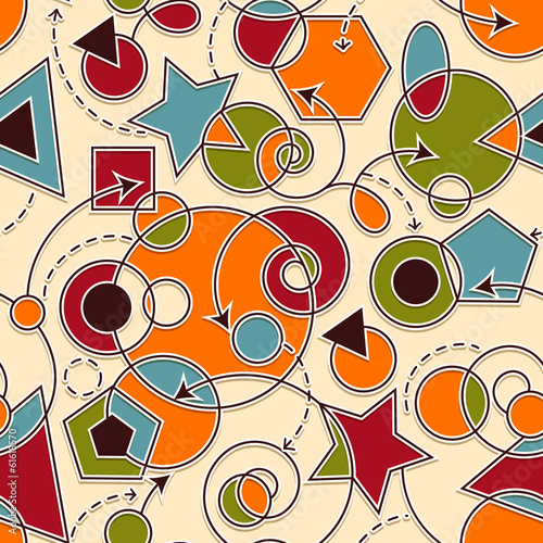 Tuinposter Abstract bloemen Vector Abstract Seamless Composition