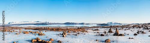 Poster Pool Icelandic landscape panorama 1x3.5 Ratio