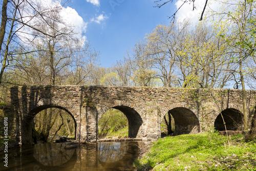Fototapeta  baroque bridge in Vlci Dul near Zasmuky, Czech Republic