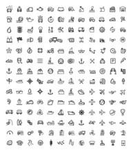 Vector Black Auto Icons Set