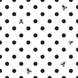 DOT BACKGROUND WITH HOUSE-FLY - 61628148