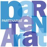 Mosaïque de Lettres PARTENARIAT (projet business contrat accord)