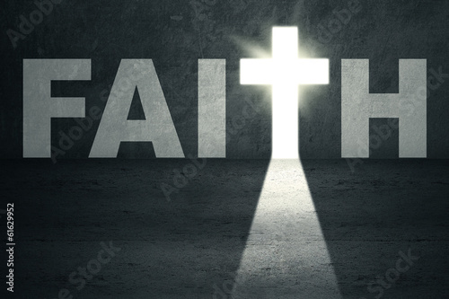 Faith Door Wallpaper Mural