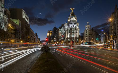 Papiers peints Madrid Night lights of Madrid in the