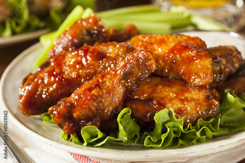 Tuinposter Kip Barbecue Buffalo Chicken Wings