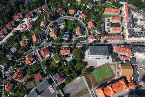 aerial view of Nysa city in Poland © mariusz szczygieł