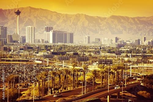 Plakat Las Vegas Nevada Cityscape