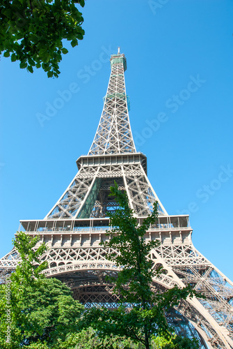 Eiffel Tower against a Blue Sky Poster
