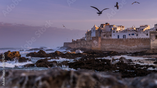 Photo Stands Morocco Coast at Essaouira in Morocco