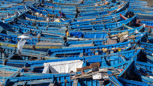 Recess Fitting Morocco Fishing boats in Essaouira Harbor, Morocco