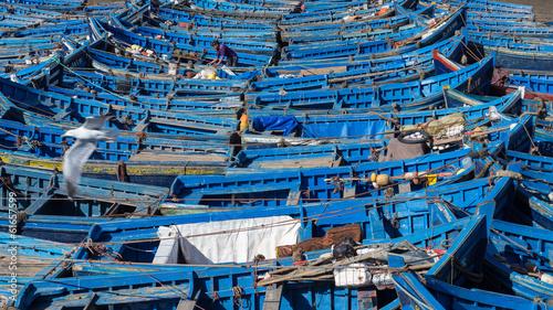 Cadres-photo bureau Maroc Fishing boats in Essaouira Harbor, Morocco
