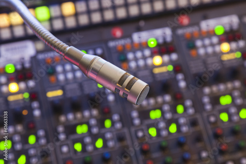 Photo  microphone on the control panel