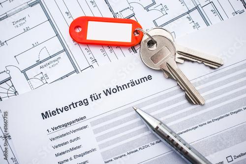 Fotografía  Mietvertrag für Wohnräume