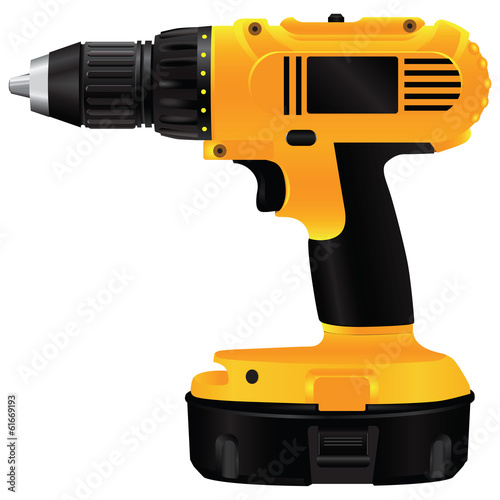 Fotografia  Electric drill with battery