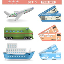 Vector Travel Icons Set 5