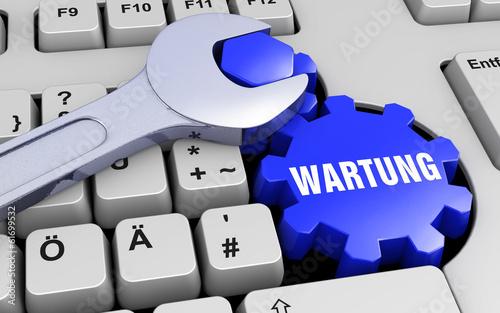 Wartung - Tastatur - Schraubenschlüssel