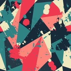 Fototapeta samoprzylepna retro triangle seamless pattern with blob effect