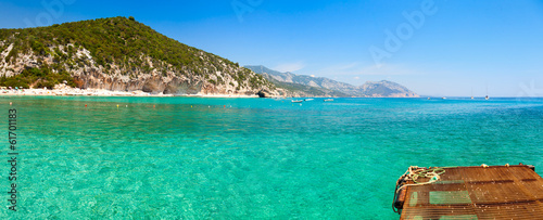 Clear turquoise water of  Cala Luna in Sardinia Canvas Print