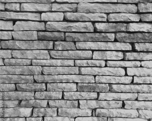 Monochrome stone wall Wallpaper Mural