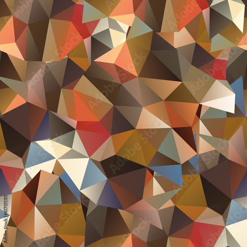 Foto op Aluminium ZigZag Seamless abstract background polygon