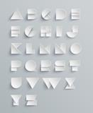 Vector Paper Alphabet Set