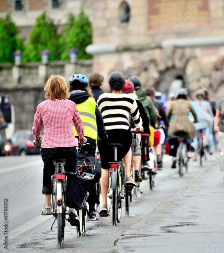Foto op Aluminium Fietsen Bike crowd