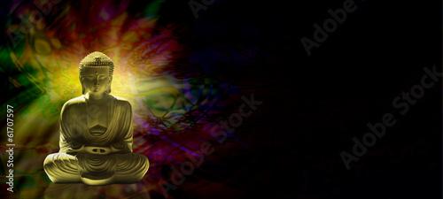 Tuinposter Boeddha Meditating Buddha Website Banner head