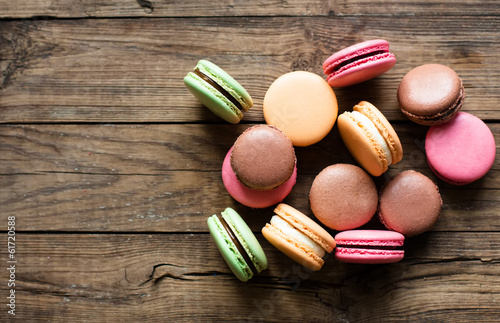 Photographie  Traditional french desert macaroons