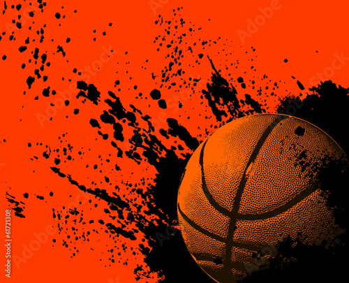 Basketball grunge ball