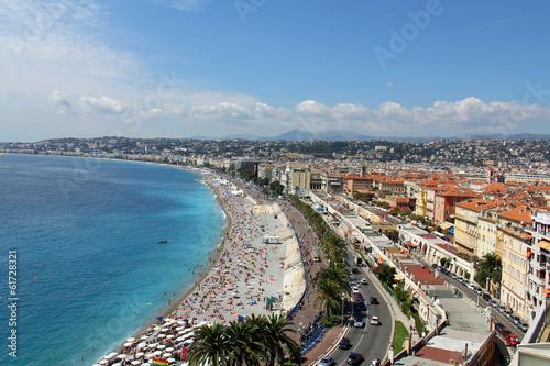 Plage de Nice, promenade des anglais (France, côte d'Azur) #61728321