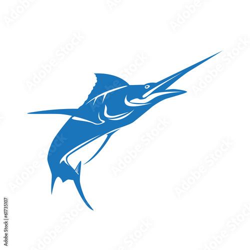Photo  Vector logo marlin