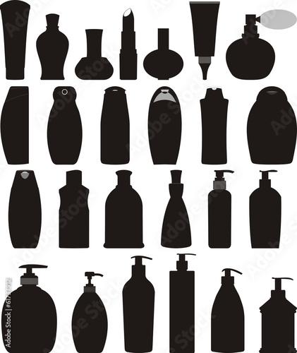 Fototapeta Bottles of cosmetic vector set obraz