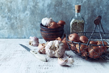 Still Life With Shallots And G...
