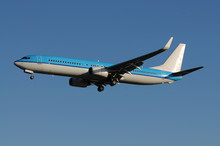 Blue Airliner At Heathrow