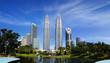 Leinwandbild Motiv Petronas Twin Towers at Kuala Lumpur, Malaysia.