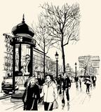 Paris - avenue des champs-elysees