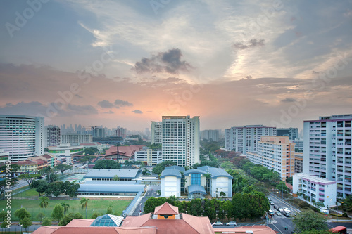 Photo  Singapore Housing Estate with Community Center