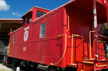 Old Fashioned Red Train Caboose