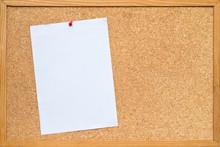 Paper On Bulletin Board