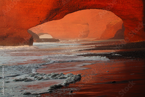Papiers peints Maroc Legzira stone arches, Atlantic Ocean, Morocco, Africa