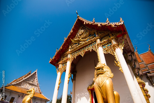 Foto op Aluminium Temple The pediment of the temple, Thailand, This is a Buddhist temple