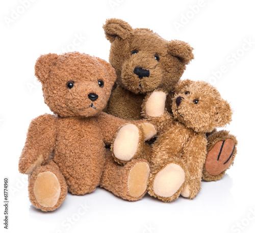 Teddy Bären Familie - isoliert auf Weiß #61774960