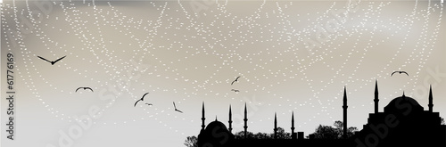 Istanbul silhouette Poster