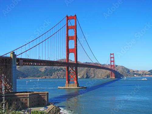 Foto auf Leinwand San Francisco Golden Gate bridge à San Francisco