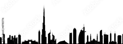 Photo  Dubai Skyline-Vector