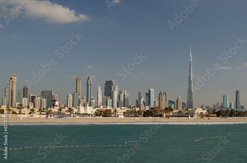 Recess Fitting Dubai Downtown of Dubai (United Arab Emirates) in the evening