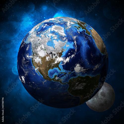 Naklejki kosmos planeta-ziemia-i-ksiezyc